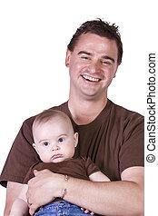 padre e hijo, posar