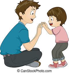padre e hijo, vinculación