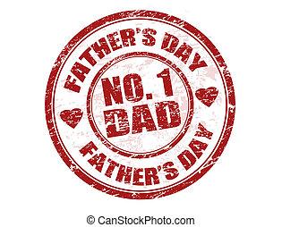 padre, estampilla, día