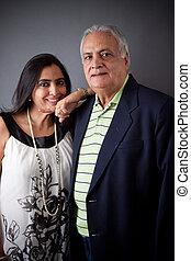 padre, este, hija, indio