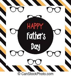 padre, feliz, día
