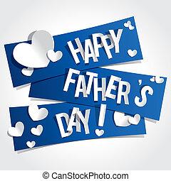padre, feliz, día, tarjeta, saludo