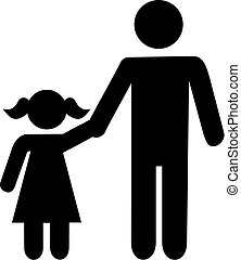padre, figlia, icona