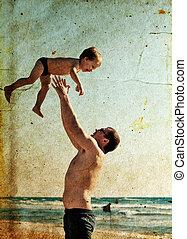 padre, gioco insieme, figlio