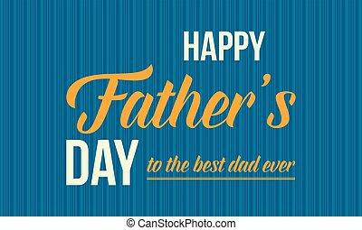 padre, illustrazione, vettore, giorno, scheda, felice