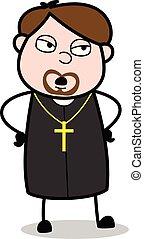 padre, -, ilustração, debate, vetorial, religiosas, ...