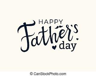 padre, lettering., giorno, felice