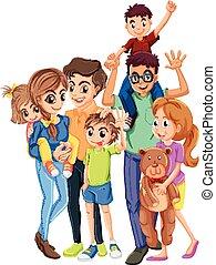 padre, membri, famiglia, madre
