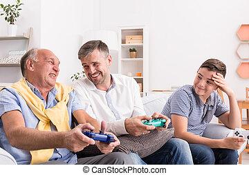 padre, nieto, hijo