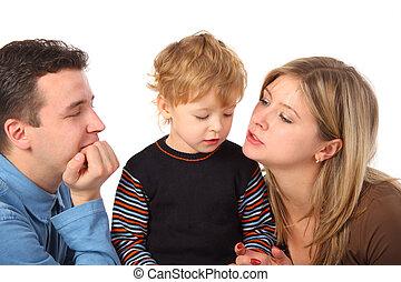 padres, y, hijo
