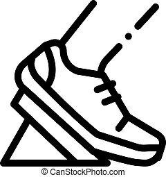 Pads Running from Low Start Icon Vector Outline Illustration