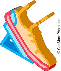 Pads Running from Low Start isometric icon vector illustration
