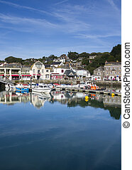 Padstow Harbour Cornwall England UK on a beautiful day
