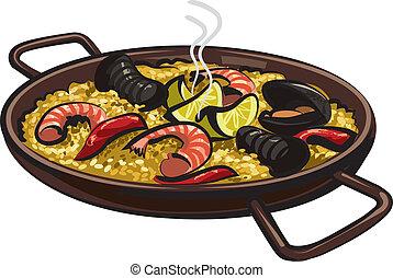 paella, spagnolo