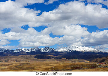 paesaggio, di, occidentale, sichuan, altopiano