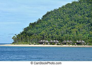 paesaggio, di, uno, tropicale pacifico, isola, in, figi