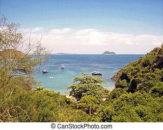 paesaggio, di, uno, tropicale, posto, in, brasile