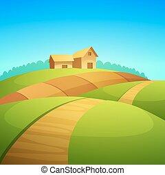 paesaggio, fattoria
