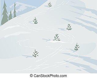 paesaggio inverno, concetto
