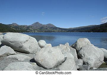 paesaggio, lago, montagna