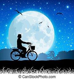paesaggio, luna