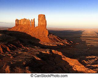 paesaggio., mesa, valle, monumento