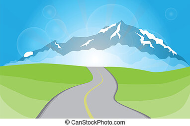 paesaggio montagna, modo, pietre