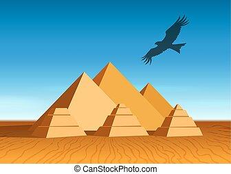 paesaggio, piramide