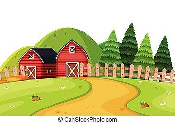 paesaggio rurale, paese