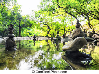 paesaggio., spirituale, natura, zen, environment., calma, ...