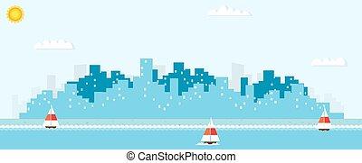 paesaggio urbano, yacht