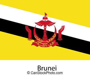 paese, bandiera, vettore, brunei., illustration.