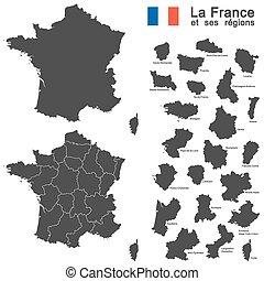 paese, silhouette, francia