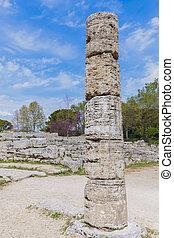 Paestum ruins in Italy