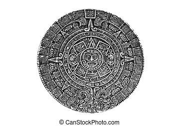 pagão, ornamento, um, sol, pedra