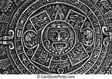pagão, pedra, ornamento, sol