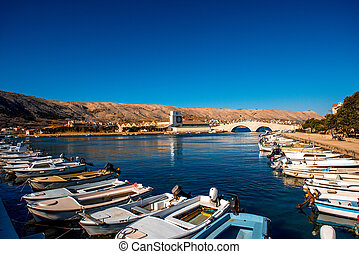 Pag city view in Croatia