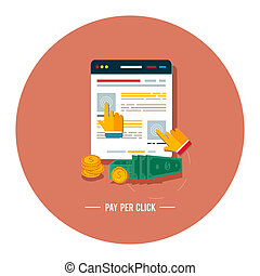 paga, por, clic, internet, publicidad, modelo