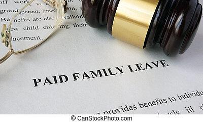pagado, familia , portada, leave.