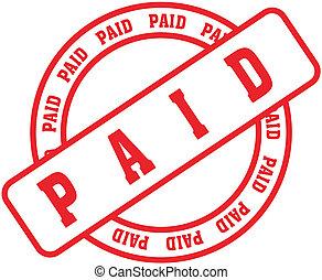 pagado, palabra, stamp1