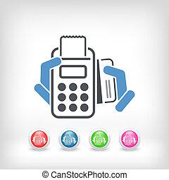 pagamento, cartão, ícone