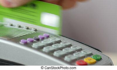 pagamento, credito, pos, scheda, terminal.