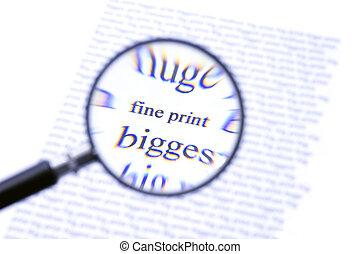 pagamento, stampa, attenzione, multa
