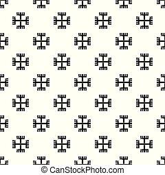 Pagan ancient symbol pattern vector seamless