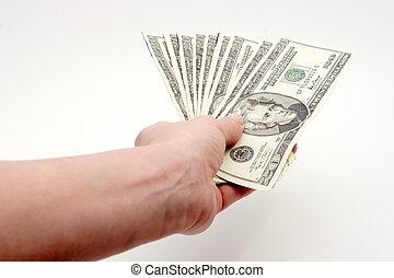 pagar, dólares