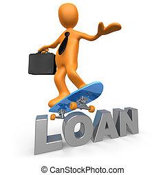 pagar, empréstimo, costas