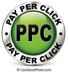 pagar, por, clique, ícone