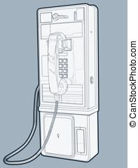 pagar, telefone público