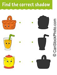 page., énigme, worksheet., mignon, puzzle, character., ...