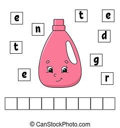 page., énigme, worksheet., mignon, simple, puzzle, puzzle., ...
